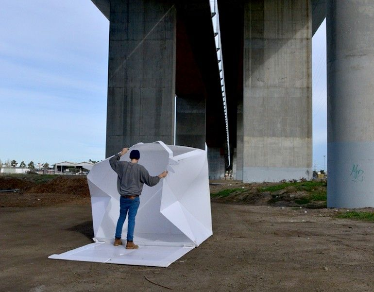 The flat-packed Compact Shelter by Alastair Pryor_6