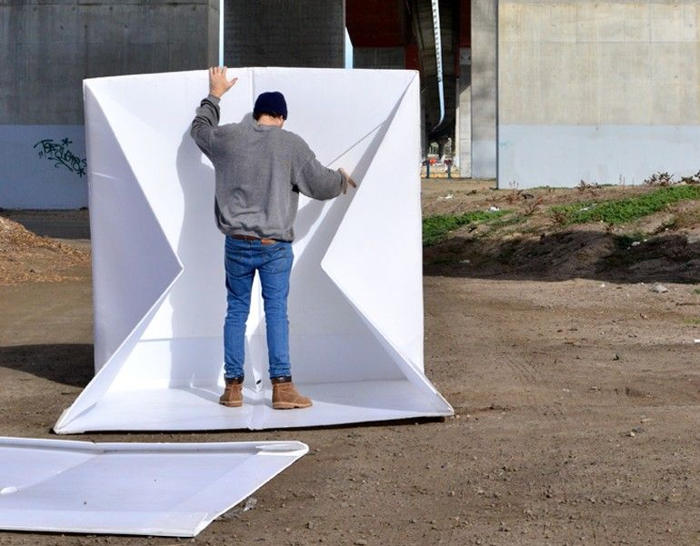 The flat-packed Compact Shelter by Alastair Pryor_8
