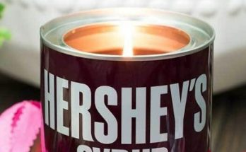 hershey pint syrup soy candle
