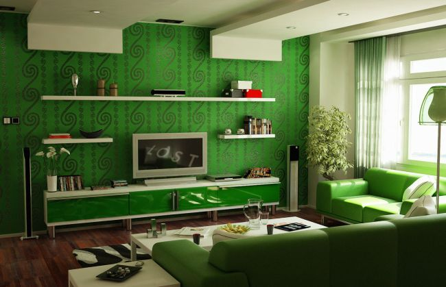 Colors, hues and tints home decoration