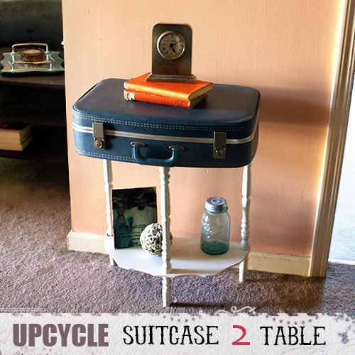 Nifty Suitcase Table with Storage Features