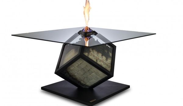 Table With Glass Cube That Contains Cash_1