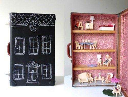 Upcycled Suitcase Dollhouse