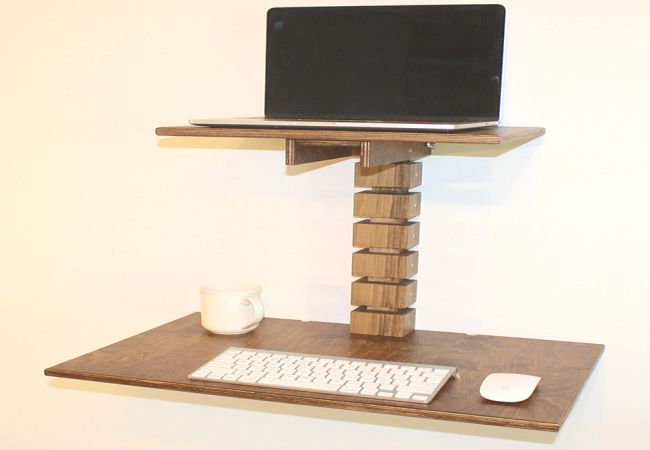 Wall-Mounted Standing Desk by Gereghty Desk Co._1
