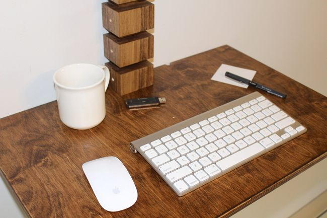 Wall-Mounted Standing Desk by Gereghty Desk Co._2