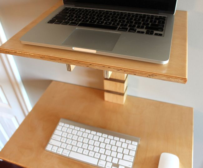 Wall-Mounted Standing Desk by Gereghty Desk Co._4
