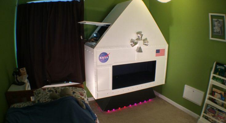 kids room spacecraft diy