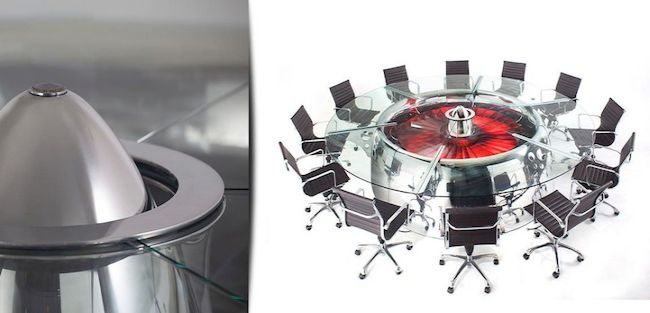 Conference Table Made from Boeing 747 Jumbo Jet_4