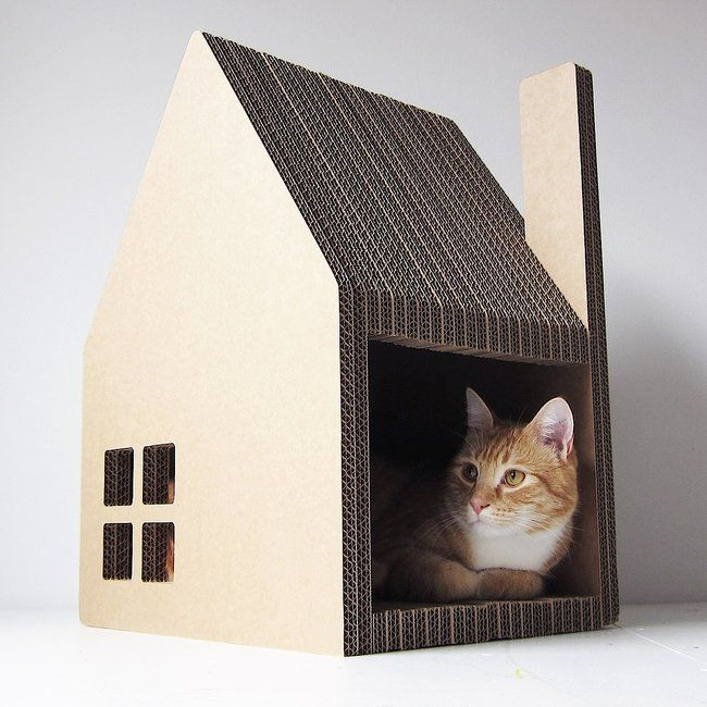 Krabhuis, the cardboard house for cats_2