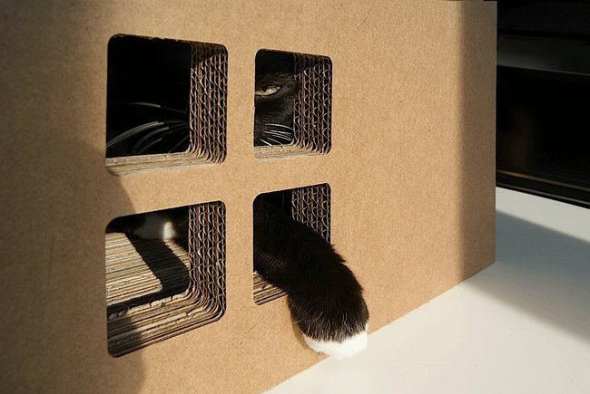 Krabhuis, the cardboard house for cats_3
