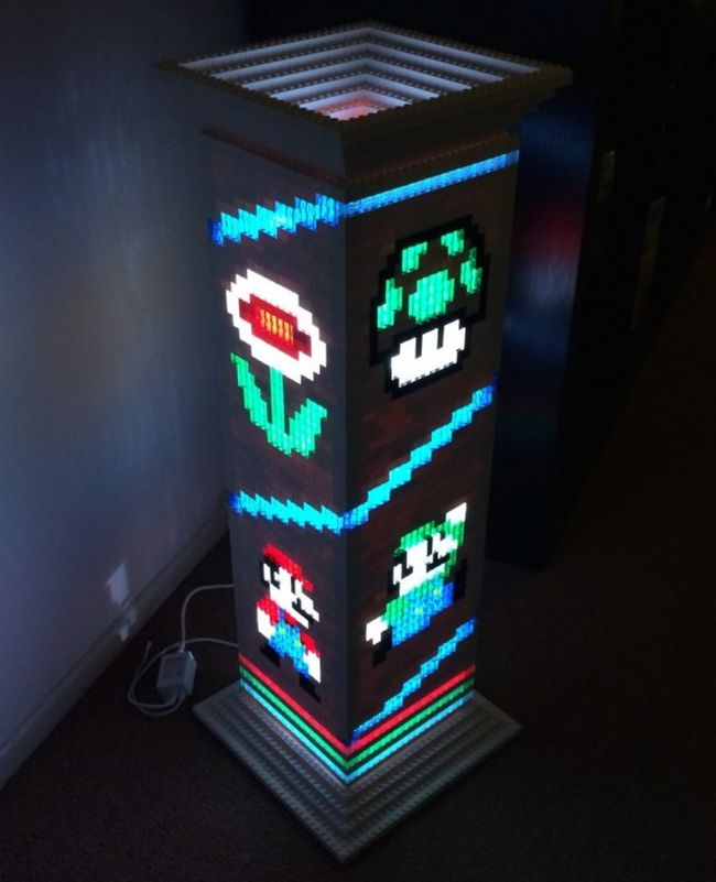 Mario Brothers themed Lego lamp_1