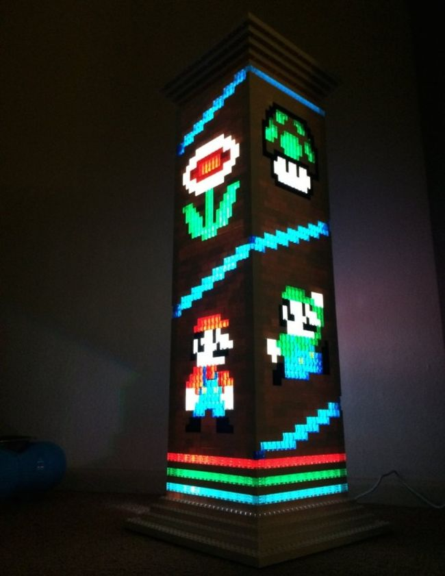 Mario Brothers themed Lego lamp_2