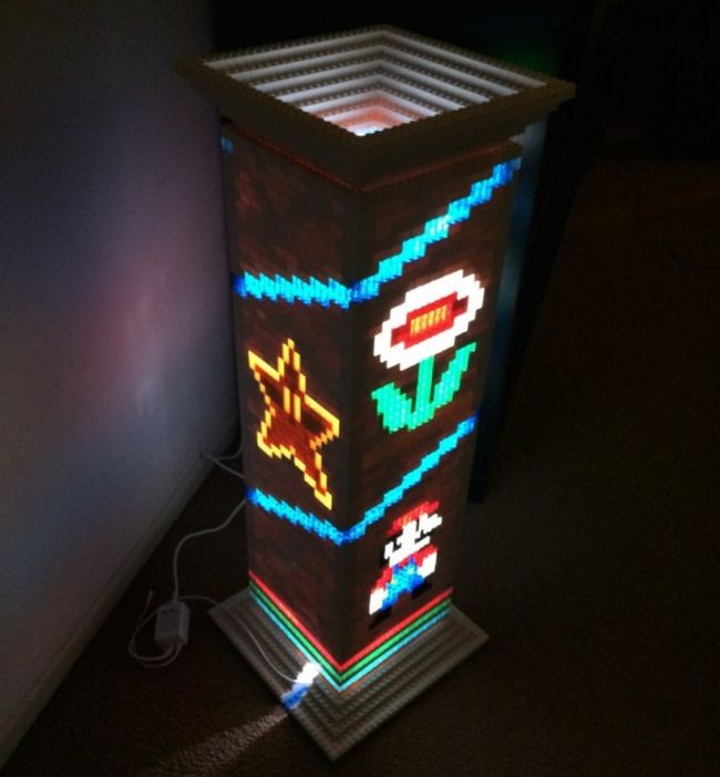 Mario Brothers themed Lego lamp_3