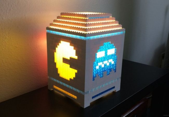 Mario Brothers themed Lego lamp_4