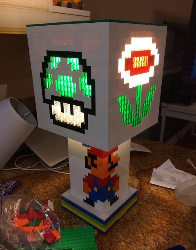 Mario Brothers themed Lego lamp_5