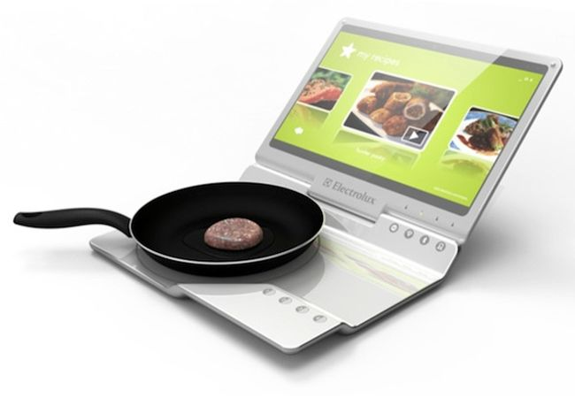 Electrolux portable Kitchen Concept combines laptop and a cooker_1