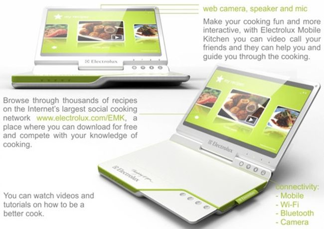 Electrolux portable Kitchen Concept combines laptop and a cooker_6