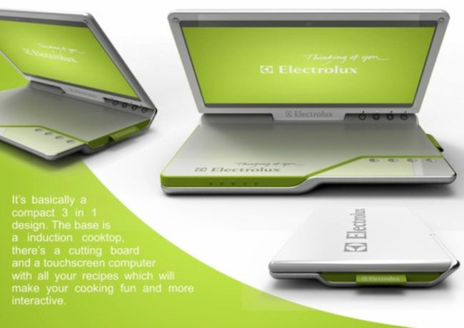Electrolux portable Kitchen Concept combines laptop and a cooker_7