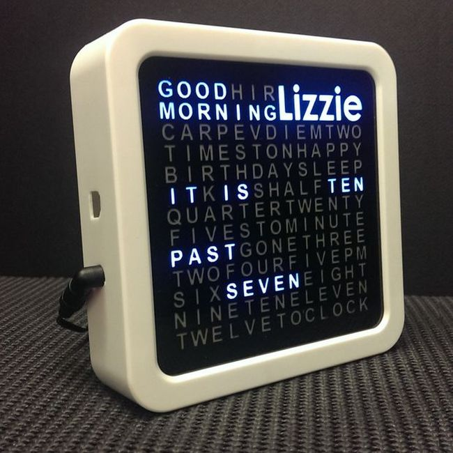 Personalised Word Clock by TechKiwi_1