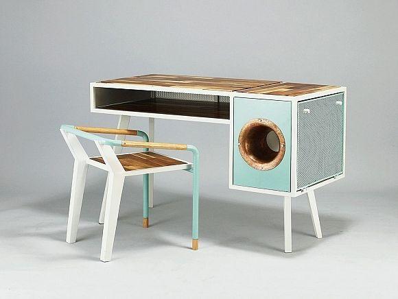 Vintage inspired soundbox desk_1