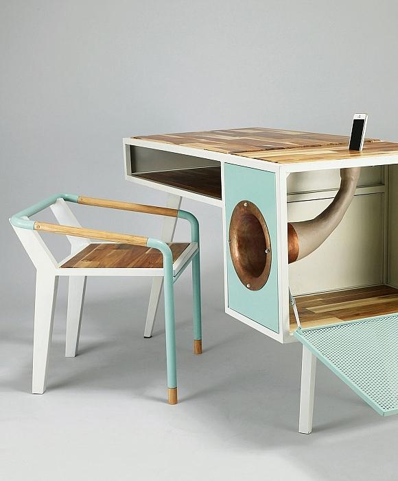 Vintage inspired soundbox desk_2