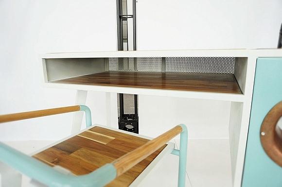 Vintage inspired soundbox desk_3