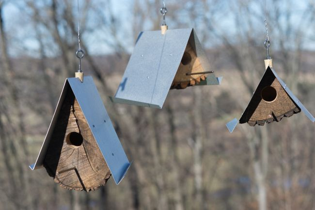 DIY Birdhouses made with wood stumps_2