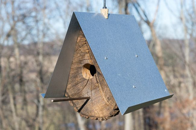 DIY Birdhouses made with wood stumps_5