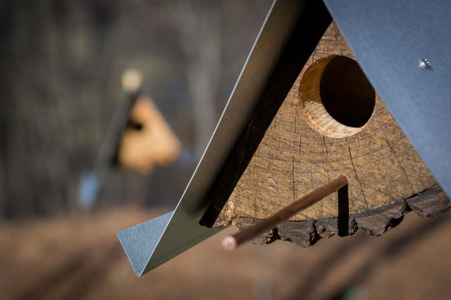 DIY Birdhouses made with wood stumps_6