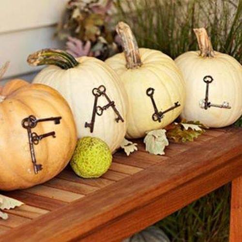 Outdoor Pumpkin Displays Halloween Decoration Ghost Sew