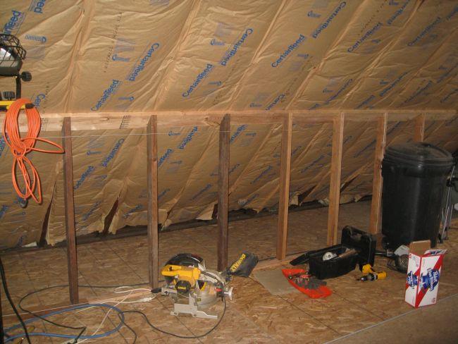 attic knee wall