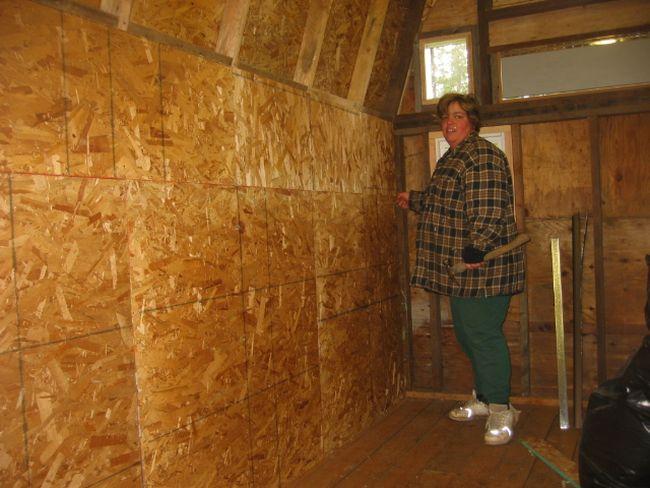attic osb walls