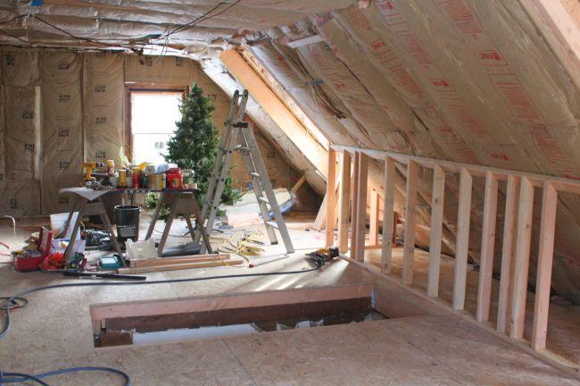 finishing attic walls