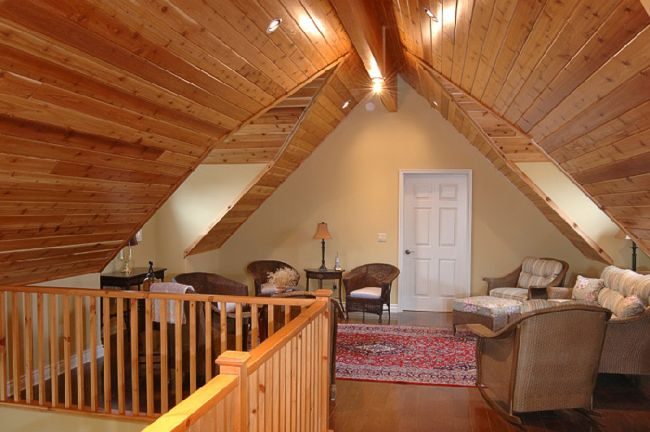 attic walls and ceiling