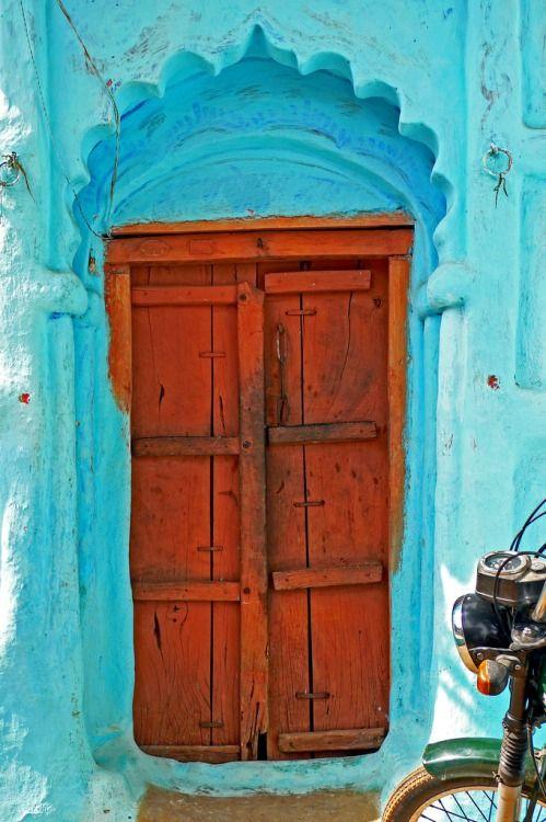 Old wooden door from rural India_5
