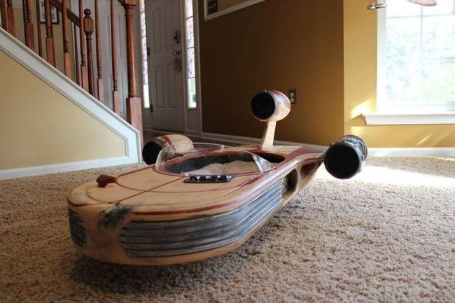 Star Wars landspeeder cat furniture by Roxy's Dream_3