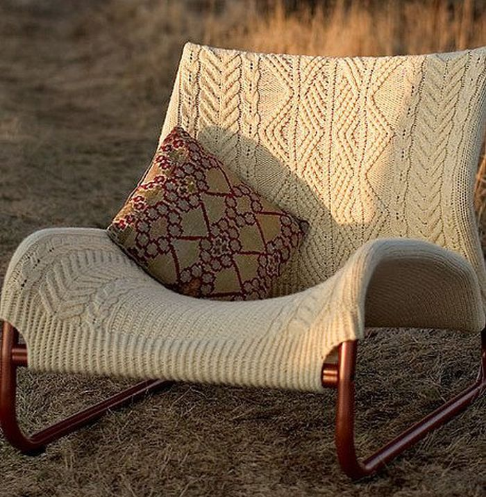 Knitted easy chair for the patio_6