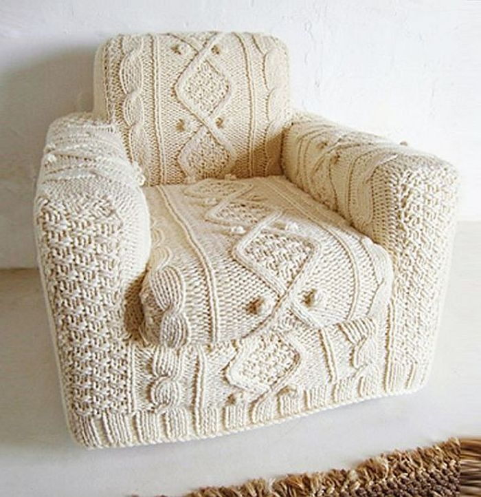 The knitted sofa in cream_1