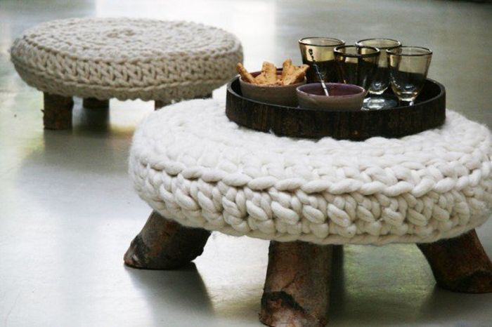 stools with woollen tops_2