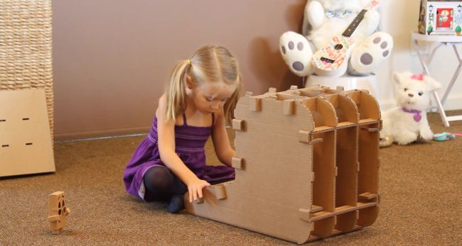 Cardboard Furniture Designed for Kids_1