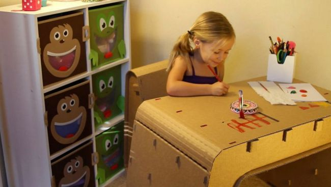 Cardboard Furniture Designed for Kids_2