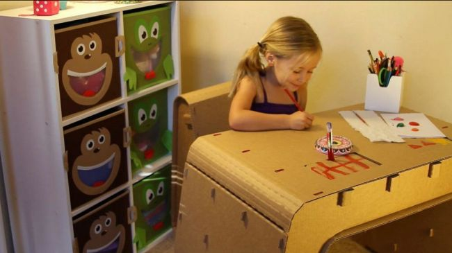 Cardboard Furniture Designed for Kids_3