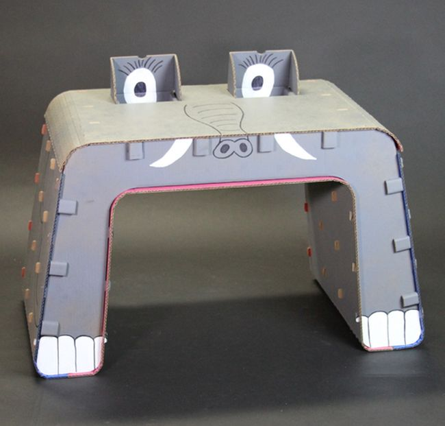 Cardboard Furniture Designed for Kids_5