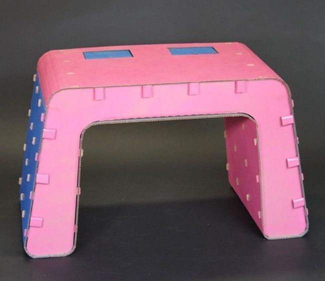 Cardboard Furniture Designed for Kids_6