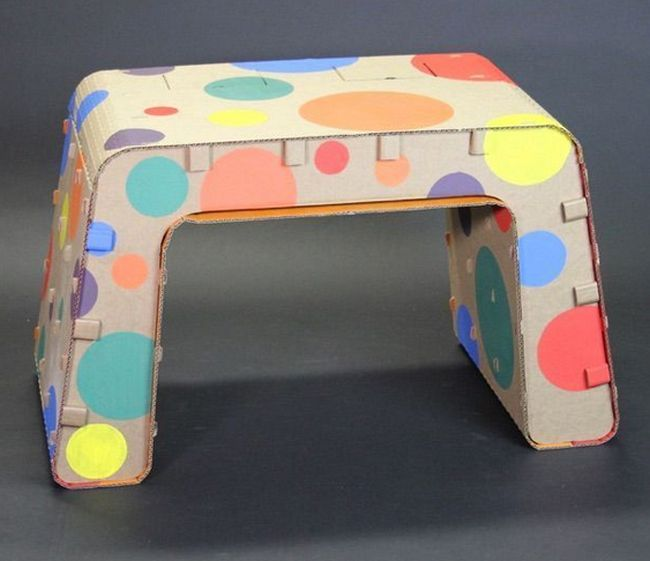 Cardboard Furniture Designed for Kids_7