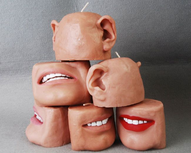 Scented candle design similar to human body parts_1