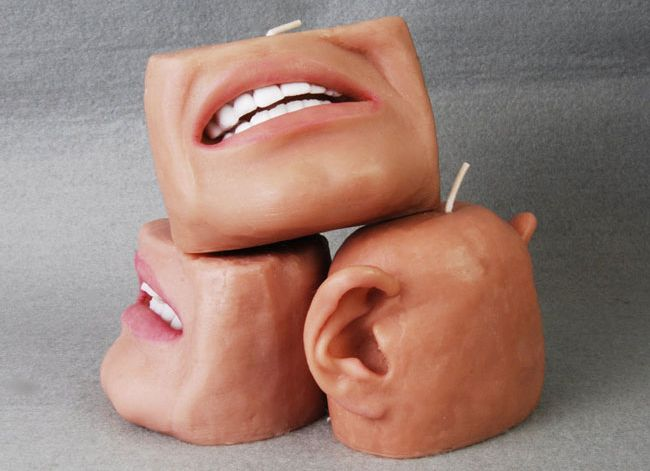Scented candle design similar to human body parts_2