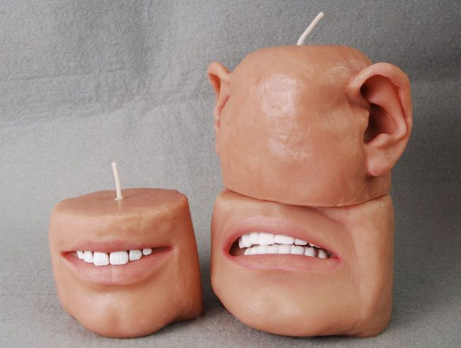 Scented candle design similar to human body parts_5