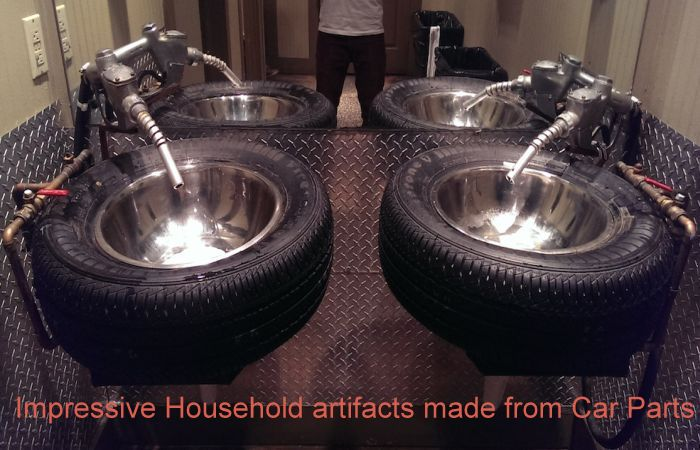 Impressive Household artifacts made from Car Parts