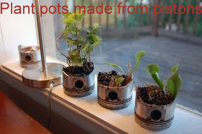 Plant pots made from pistons_10